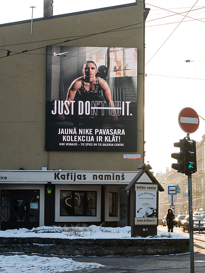 Screens in Riga, Latvia